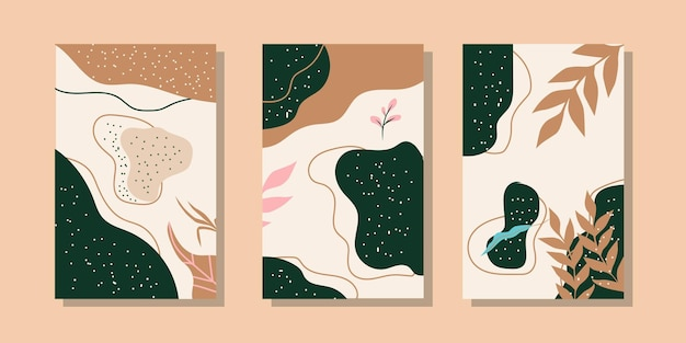 Plantillas de fondo artístico universales de moda abstractas buenas para portadas e invitaciones