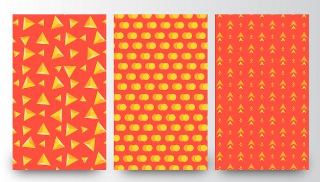 Plantillas de fondo de patrones diferentes abstractos