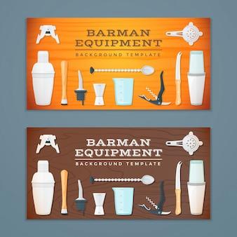 Plantillas de fondos de banner de herramientas de barman
