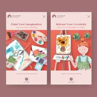 Plantillas de historias de instagram para la vida diaria