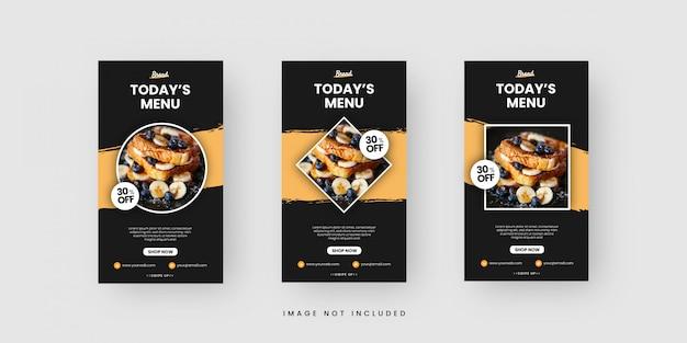 Plantillas de historias de redes sociales de alimentos