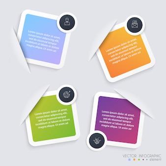 Plantillas de infografía para empresas. se puede utilizar para el diseño del sitio web, pancartas numeradas, diagrama.