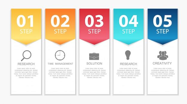Plantillas de infografía para ilustración de negocios