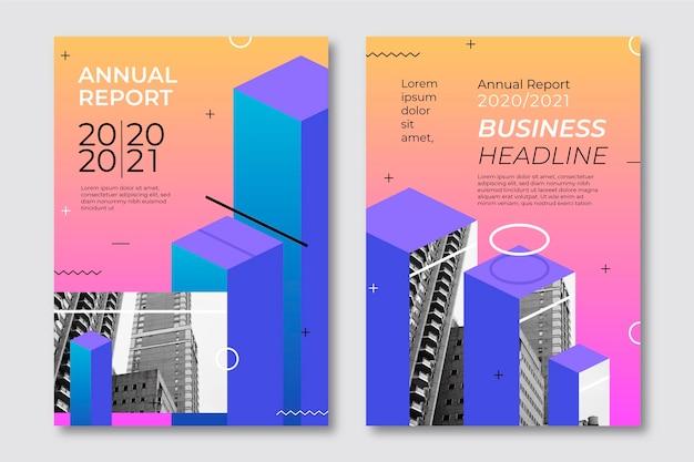 Plantillas de informe anual geométrico 2020 y 2021