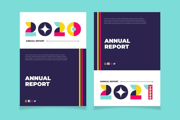 Plantillas de informe anual geométrico 2020-2021