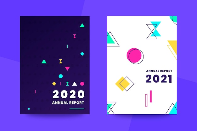 Plantillas de informes anuales abstractos