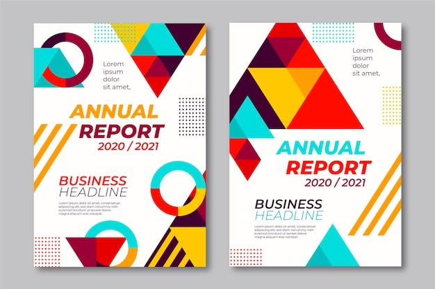 Plantillas de informes anuales geométricos