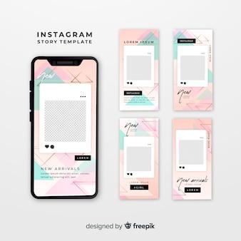 Plantillas de instagram stories con marco vacío