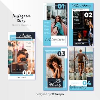 Plantillas de instagram stories con marcos vacíos