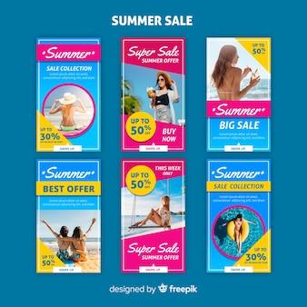 Plantillas de instagram stories de rebajas de verano