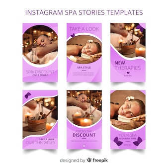 Plantillas de instagram stories de spa