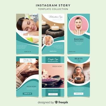 Plantillas de instagram stories de spa