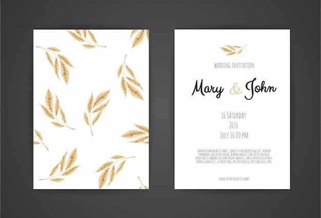 Plantillas de invitación de boda de la vendimia.