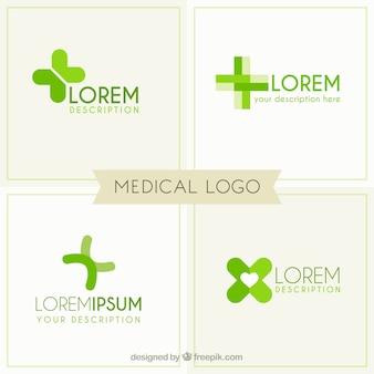 Plantillas de logo médico verde