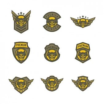 Plantillas de logos amarillos de airsoft
