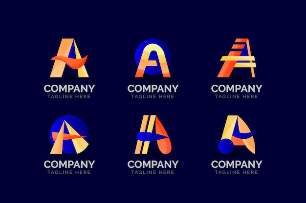 Plantillas de logotipo de color degradado