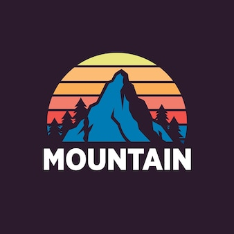 Plantillas de logotipo de montaña