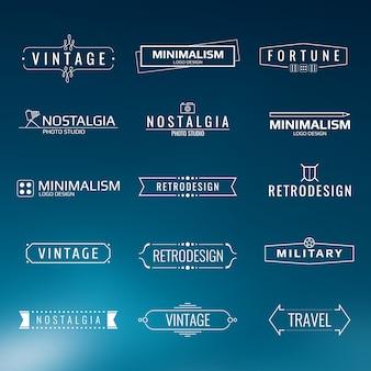 Plantillas de logotipo vintage minimalistas. diseño de estilo retro
