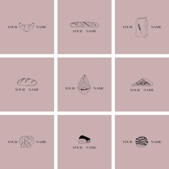 Plantillas de logotipos de panadería