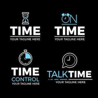 Plantillas de logotipos de relojes creativos
