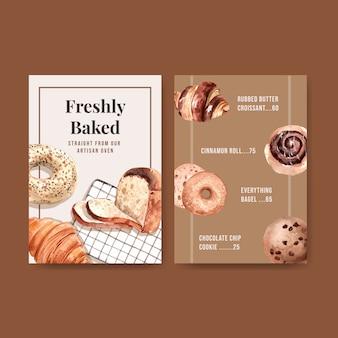 Plantillas de menú de panadería