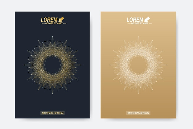 Plantillas modernas para ilustración de folletos