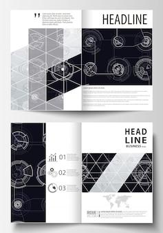 Plantillas de negocio para bi-fold brochure.