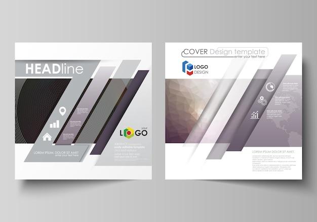 Plantillas de negocio para folleto de diseño cuadrado, revista, folleto, folleto