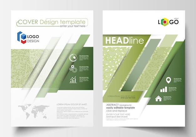 Plantillas de negocio, folleto, flyer, informe anual.