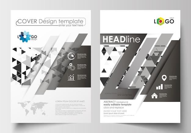 Plantillas de negocio para folleto, revista, folleto, folleto, informe.