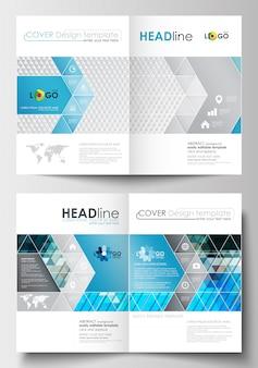 Plantillas de negocio para folleto, revista, folleto, folleto o informe.