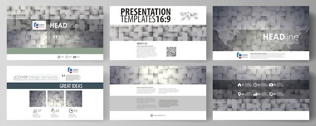 Plantillas de negocio en formato hd para diapositivas de presentación.