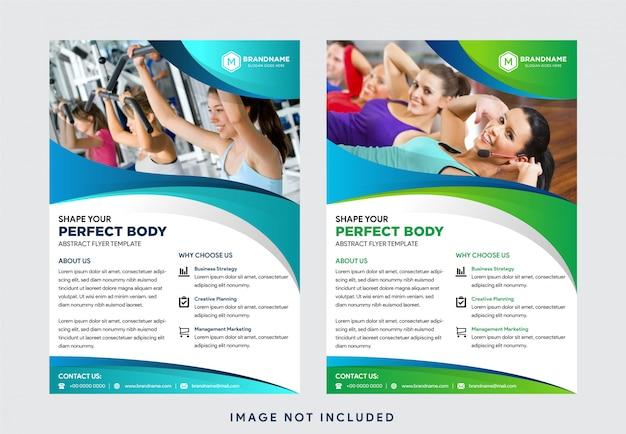 Plantillas de negocios creativas: diseño, diseño de portada de folleto de folleto publicitario con forma de onda y collage de fotos espaciales, plantilla en tamaño a4