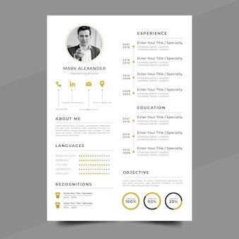 Plantillas de página de aplicación estilo minimalista