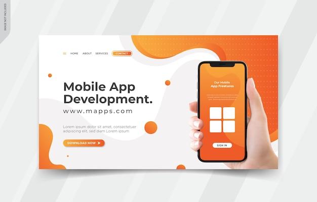 Plantillas de página de destino de aplicaciones móviles