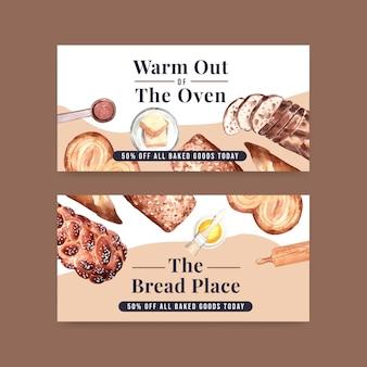 Plantillas de pancartas de panadería
