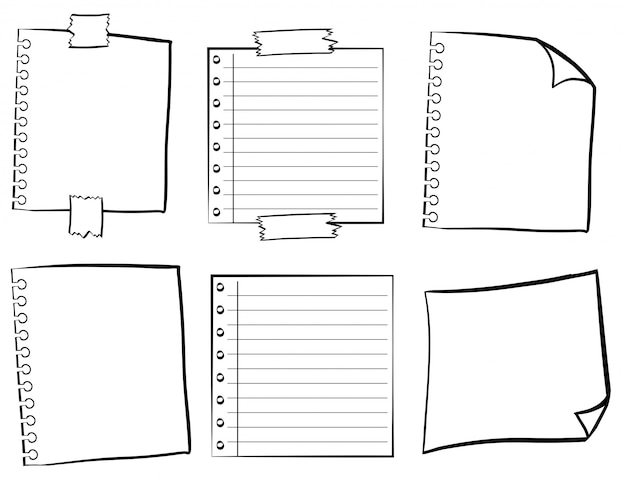 Plantillas de papel en diferentes diseños