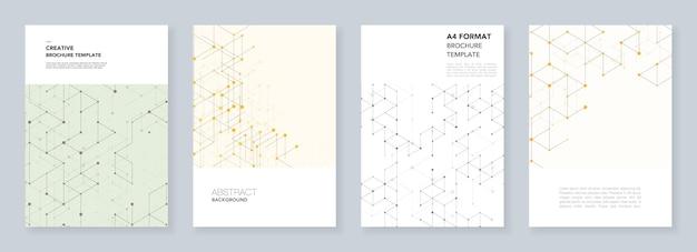 Plantillas de portada mínimas. arte lineal moderno con líneas de conexión.