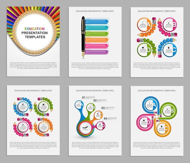 Plantillas de presentación de negocios. elementos modernos de infografía. se puede utilizar para presentaciones de negocios, folletos, pancartas de información y diseño de portadas de folletos.
