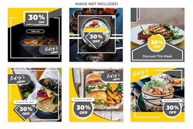 Plantillas de publicaciones culinarias en redes sociales