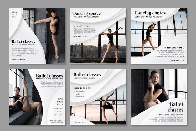 Plantillas de publicaciones de instagram de baile