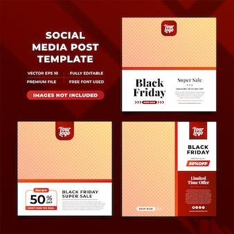 Plantillas de publicaciones de instagram de black friday sale