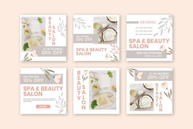 Plantillas de publicaciones para salones de belleza