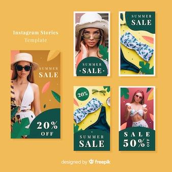 Plantillas de stories de instagram de compras veraniegas