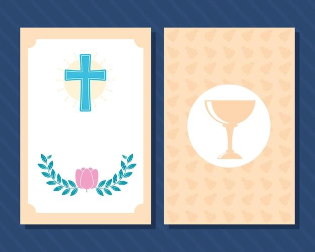Plantillas de tarjetas de bautismo