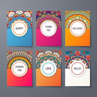 Plantillas de tarjetas étnicas