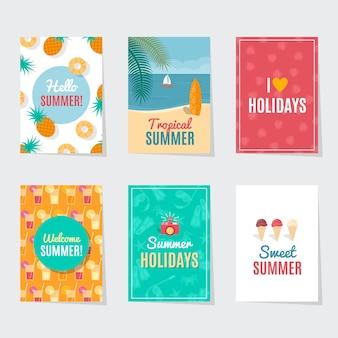 Plantillas de tarjetas de verano