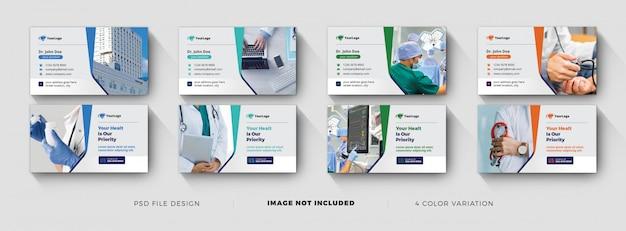 Plantillas de tarjetas de visita médicas