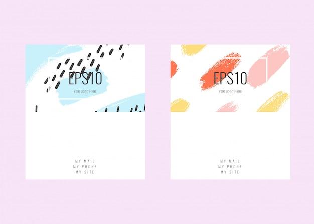 Plantillas de tarjetas de visita universales contemporáneas. diseño de tarjeta de visita