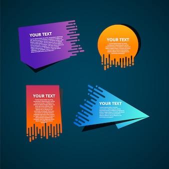 Plantillas de texto estilo origami de velocidad para banner